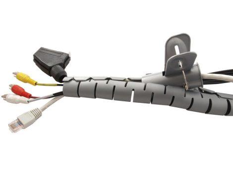 Maclean spirál kábelvédő 22x25mm, 2m szürke (MCTV-676)