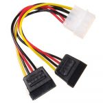 Maclean MCTV-632 Power Converter Cable Adapter Molex 2xSATA