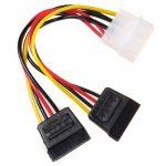 Maclean MOLEX tápkábel - 2x SATA kábel (MCTV-632)