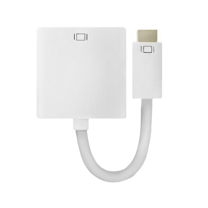 Qoltec mini DVI - DVI-I (24+5) adapter