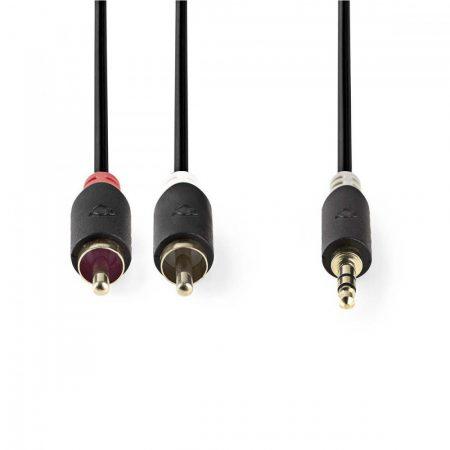Nedis 3.5 Jack dugó - 2x RCA dugó audio kábel 10m (CABW22200AT100)