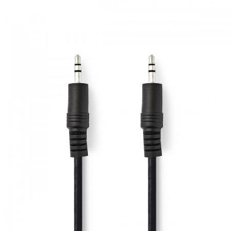 Nedis 3.5 mm-es dugó - 3.5 mm-es dugó sztereó audio kábel 0.5m fekete (CAGB22000BK05)