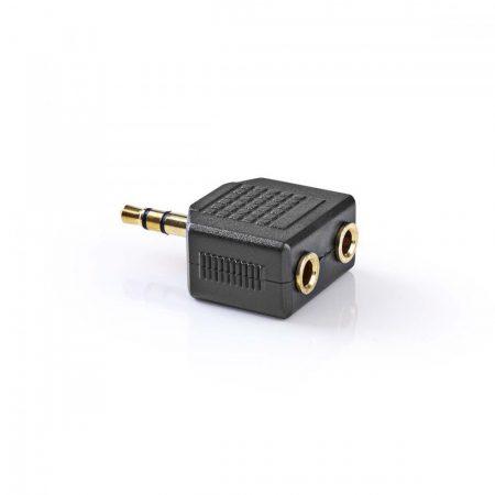 Nedis Adapter dugó 3.5mm sztereó dugó - 2 x 3.5mm sztereó aljzat (aranyozott)