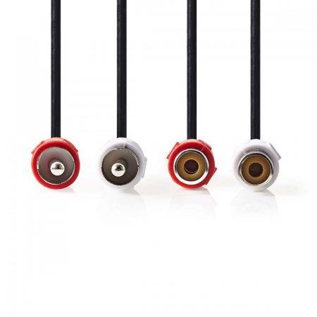 Nedis 2x RCA hosszabbító kábel 2m (CAGP24205BK20)