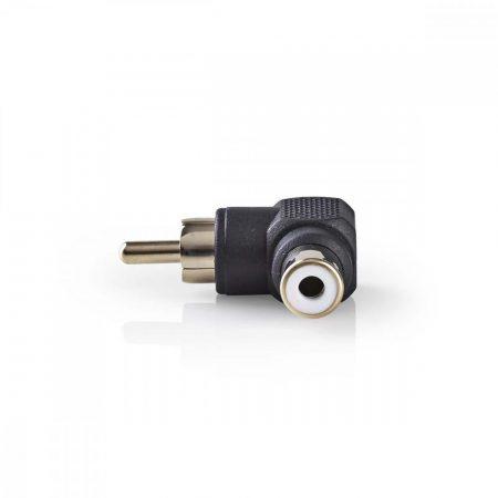 Nedis Adapter hajlított RCA dugó - RCA aljzat (CAGP24920BK)