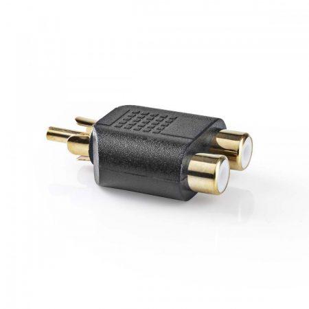 Valueline Adapter RCA dugó - 2x RCA aljzat (CAGP24940BKG)