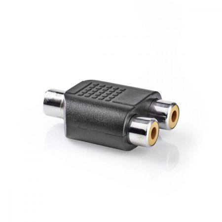 Nedis RCA aljzat - 2x RCA aljzat toldó adapter (CAGP24941BK)