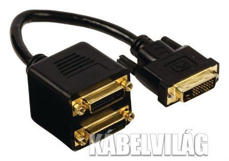 Nedis Adapter DVI-D dugó - 2x DVI-D aljzat (CCGP32950BK02)