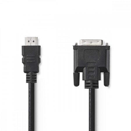 Nedis HDMI Csatlakozó - DVI-D 24+1 pólusú dugó Kábel 10m Fekete (CCGP34800BK100)