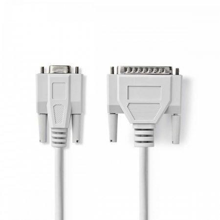Nedis DB25 tűs apa - DB9 tűs anya 2m kábel (CCGP52135IV20)