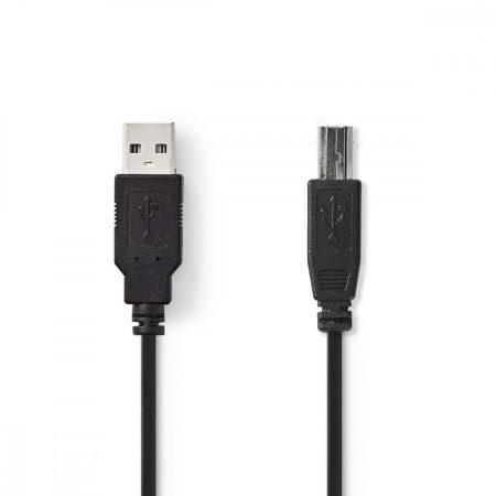 Nedis USB 2.0 AM-BM nyomtató kábel 2m (CCGP60100BK20)