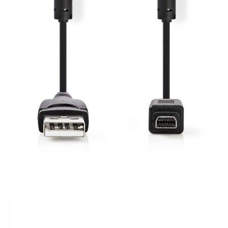 Nedis USB 2.0 fényképezőgép kábel 12 tűs Olympus 2m (CCGP60802BK20)