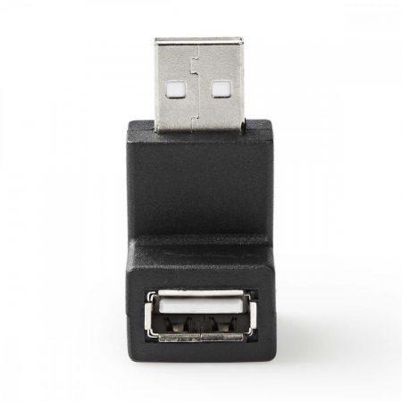 Nedis USB dugó - USB aljzat derékszögű 90 fok adapter (CCGP60930BK)