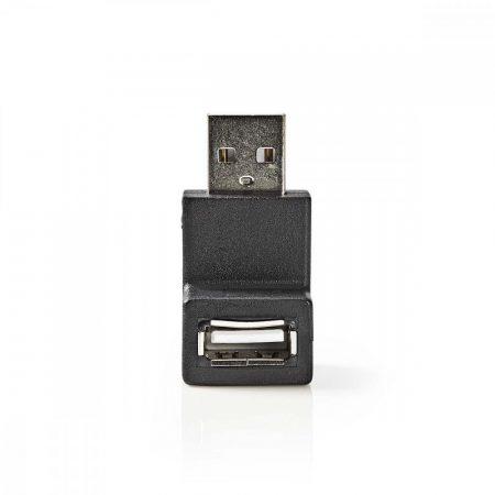 Nedis USB dugó - USB aljzat derékszögű 270 fok adapter (CCGP60940BK)