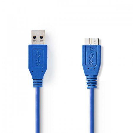 Nedis A dugó - micro B dugó USB 3.0 kábel 0.5m kék