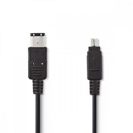 Nedis FireWire 4 tűs - 6 tűs kábel 1.8m (CCGP62100BK20)