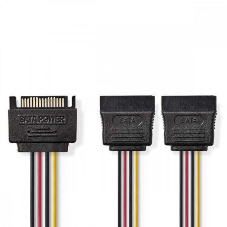 Nedis SATA kábel elosztó apa - 2x anya (CCGP73190VA015)