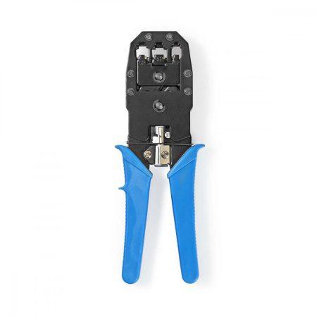 Nedis krimpelő fogó RJ45, RJ11, RJ10 csatlakozóhoz, kék (CCGP89510BU)