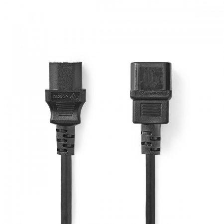 Nedis PC 230V hosszabbító C13/C14 tápkábel 3m (CEGP10500BK30)