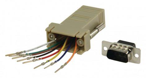 Valueline Soros D-SUB 9 tűs Dugó - RJ45 (8P8C) aljzat adapter (CMP-ADAPT-9M)