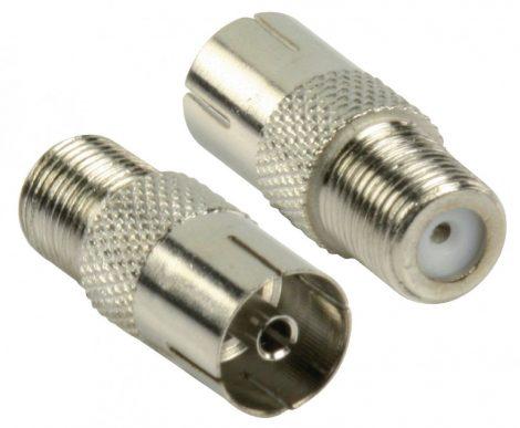 Nedis Profi F csatlakozó aljzat - Koax csatlakozó dugó adapter (CSGP41959ME)