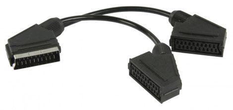 Nedis Scart elosztó kábel 0.2m (CVGP31070BK02)