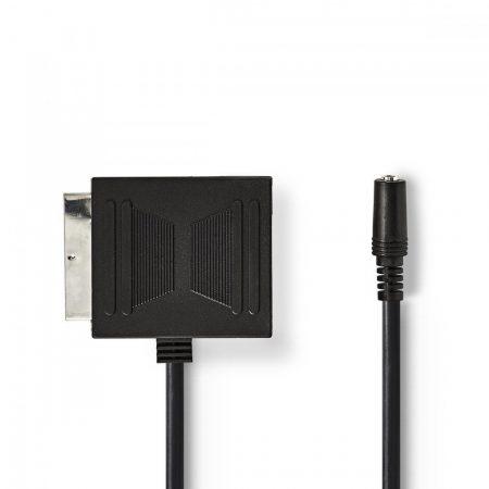 Nedis SCART dugó - SCART-aljzat + 3.5 mm-es aljzat SCART-adapter 0.2m fekete (CVGP31930BK02)