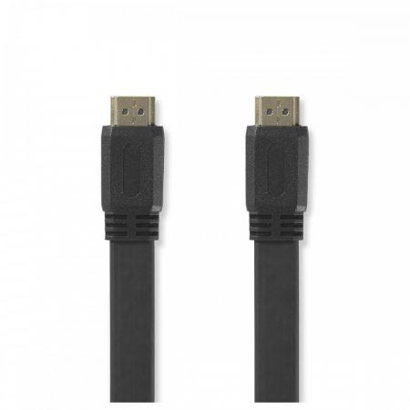 Nedis HDMI lapos kábel 10m 1.4 ethernet (CVGP34100BK100)