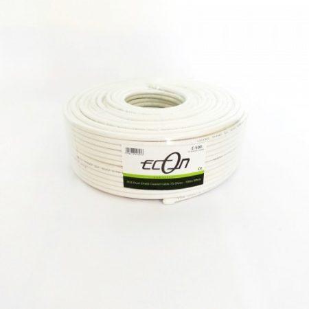 Econ Rg6 koax kábel 100m rezezett fehér