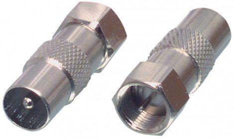 Valueline F dugó - koax dugó adapter (FC-029)