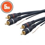 Delight 2X RCA kábel földeléssel 5m aranyozott (20155)