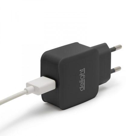 Delight USB Hálózati adapter 1.2A (55045-1BK)