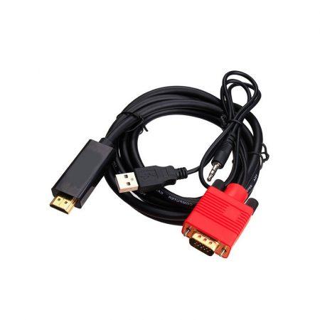 Trusty VGA + audio - HDMI kábel 1.8m (KS-006-1.8m)