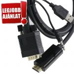 Trusty HDMI to VGA + audio  átalakító kábel 2m (KS-041-2M)