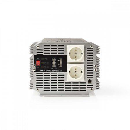 Nedis módosított szinusz 24V - 230V 2500W inverter (PIMS250024)