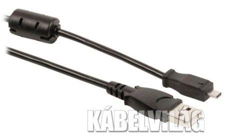 Valueline USB 2.0 fényképezőgép kábel 8 tűs Kodak 2m (VLCP60803B20)