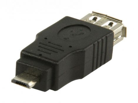 Valueline Adapter USB A aljzat - 5 tűs micro USB B dugó (VLCP60901B)