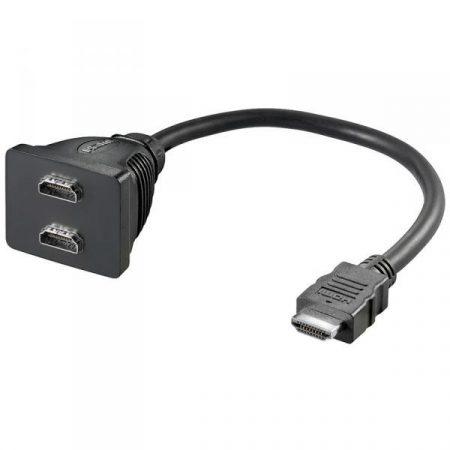 Goobay HDMI elosztó 1 bemenet 2 kimenet (68783)
