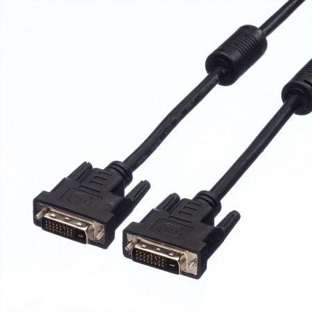 VALUE Kábel DVI - DVI M/M, (24+1) dual link 2m (11.99.5525)