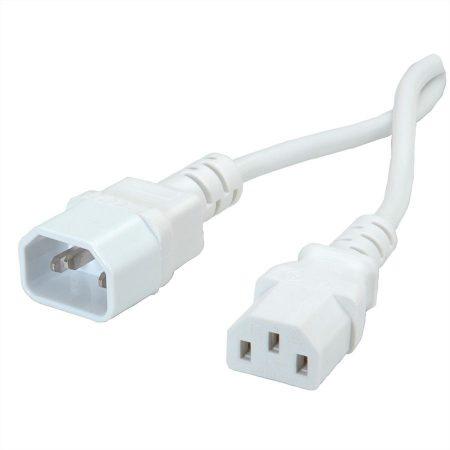 Value PC hosszabbító C13/C14 tápkábel 1.8m fehér (19.99.1516)