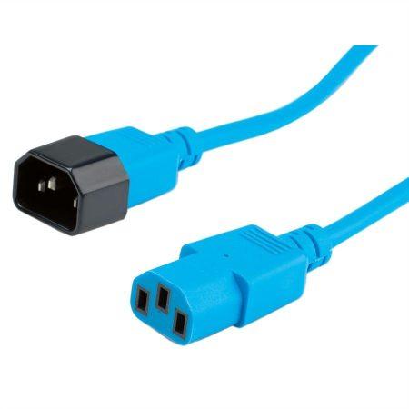 Roline PC hosszabbító C13/C14 tápkábel 1.8m kék (19.08.1522)
