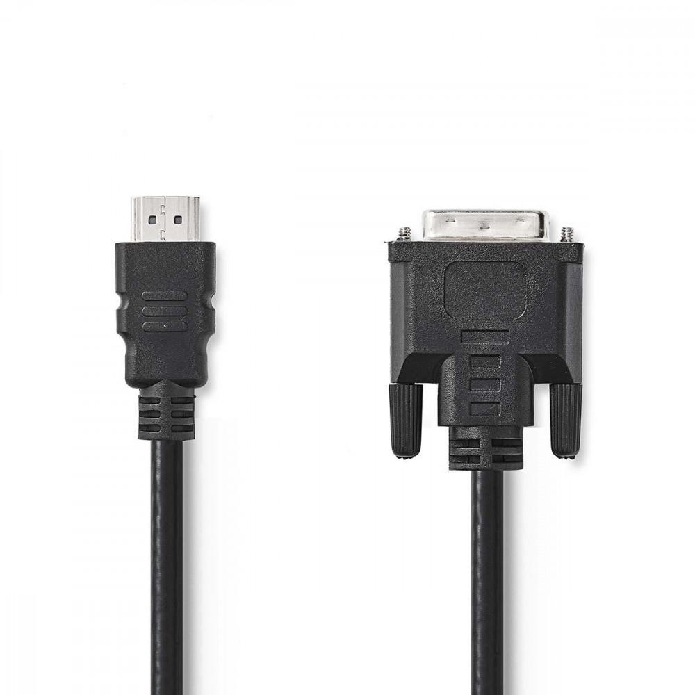 Nedis HDMI - DVI-D 24+1 kábel 10m (CCGP34800BK100)