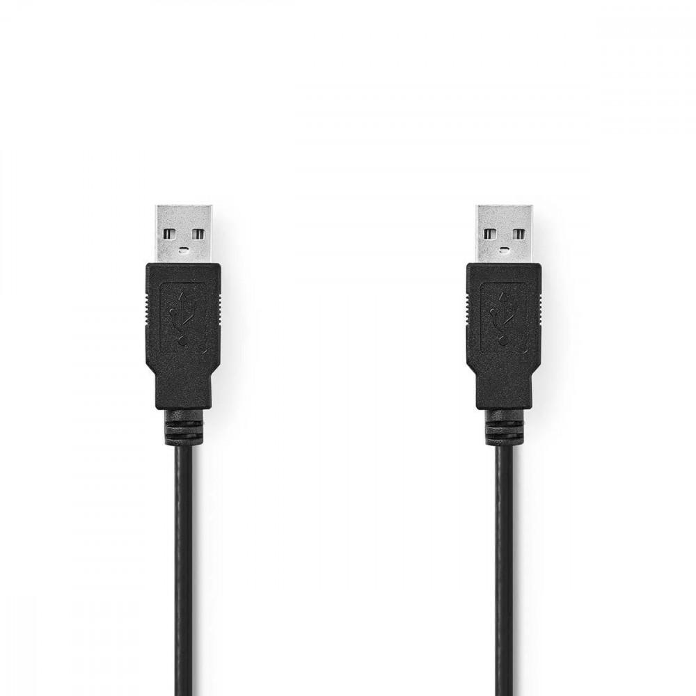 Nedis USB 2.0 AM-AM kábel 1m (CCGT60000BK10)