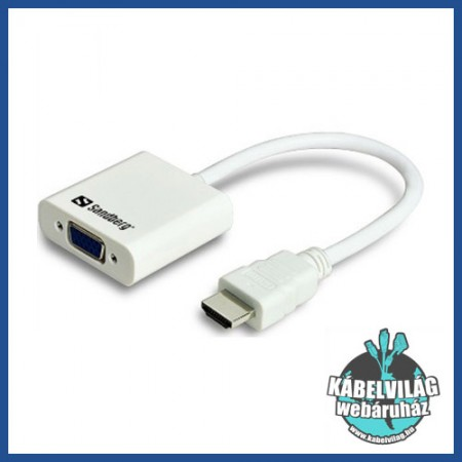 HDMI - VGA adapterek